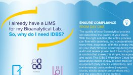 Flyer: I already have a LIMS for my Bionanalytical Lab. So, why do I need IDBS?